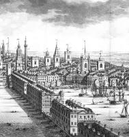 Old London Bridge c1710